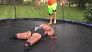 WWE United States Championship Trampoline Match AJ Styles vs Kevin Owens The Rock Cena