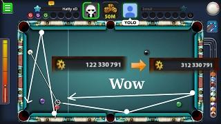 Random Amazingness #9 - Making coins - 100 MILLION to 312 MILLION - Miniclip 8 Ball Pool || 1080p HD