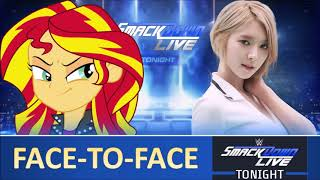 Smackdown Live 2019: Sunset Shimmer & Park Choa meet Face-to-Face - Fanmade