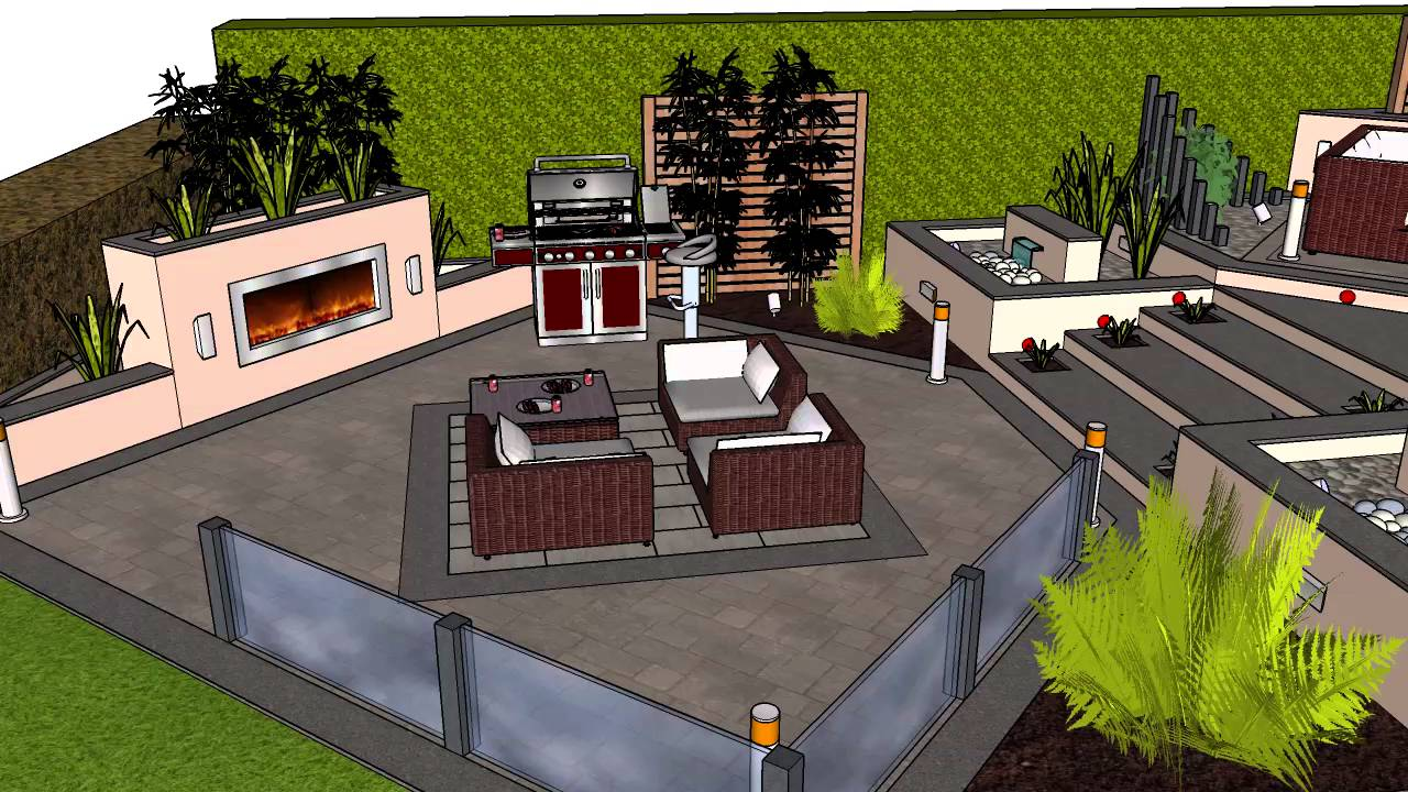 perfect 3d garden design landscape designs plans best inside
