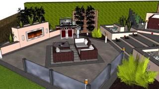 A beautiful contemporary 3D garden design