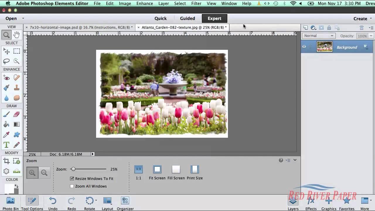 Greeting Card Setup Printing Photoshop Elements 11 12 13 HP Mac ...