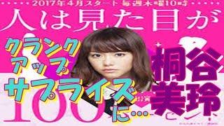 【タイトル】 桐谷美鈴 「人は見た目が100パーセント」 クランクアップ...
