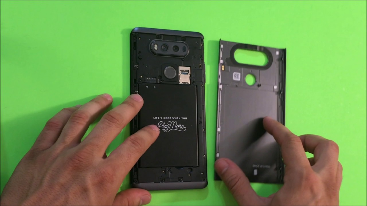 official photos cfa9c cfd2d How to Remove the LG V20 Back Metal Cover