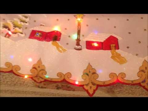 Curso de mantel navide o youtube - Motivos navidenos para pintar en tela ...