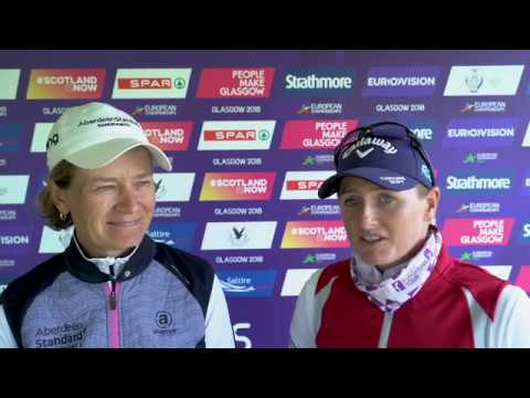 Catriona Matthew & Holly Clyburn get another win on the board for Great Britain