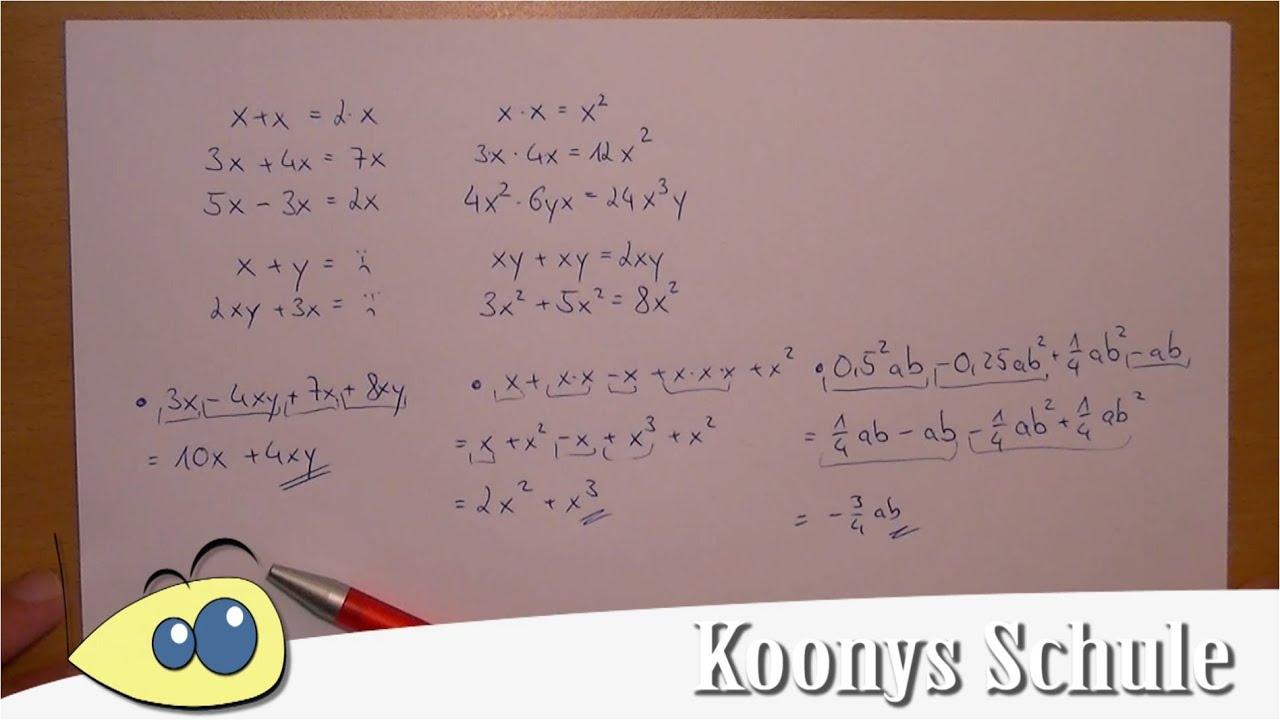 Terme subtrahieren und addieren - gleichartige Glieder ...