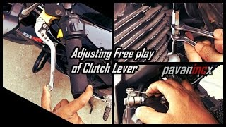 How to Adjust free play of the clutch lever Suzuki Gixxer 155