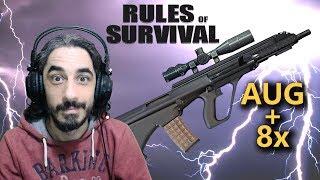 AUG LANETİ DEVAM EDİYOR 16 KILLS - RULES OF SURVIVAL