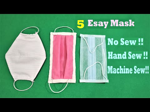 How To Make Mask At Home | 5 Easy Mask Making  Tutorial | DIY Face Mask