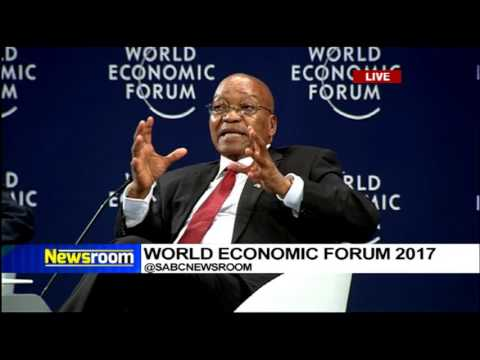President Zuma answers questions at WEF Africa official opening