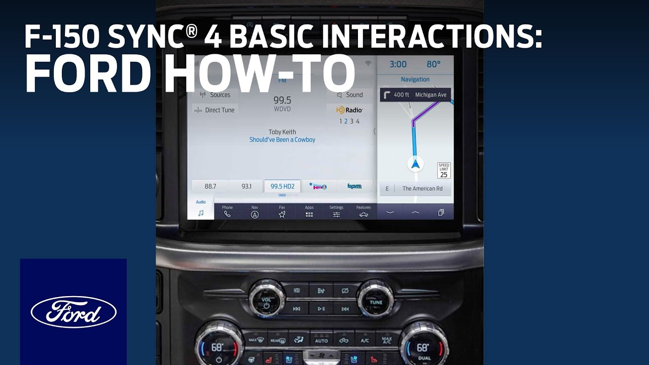 F-150 SYNC® 4 Basic Interactions   Ford How-To   Ford