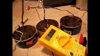 Como generar electricidad con tierra 100% real  (pila de tierra) prueba 1