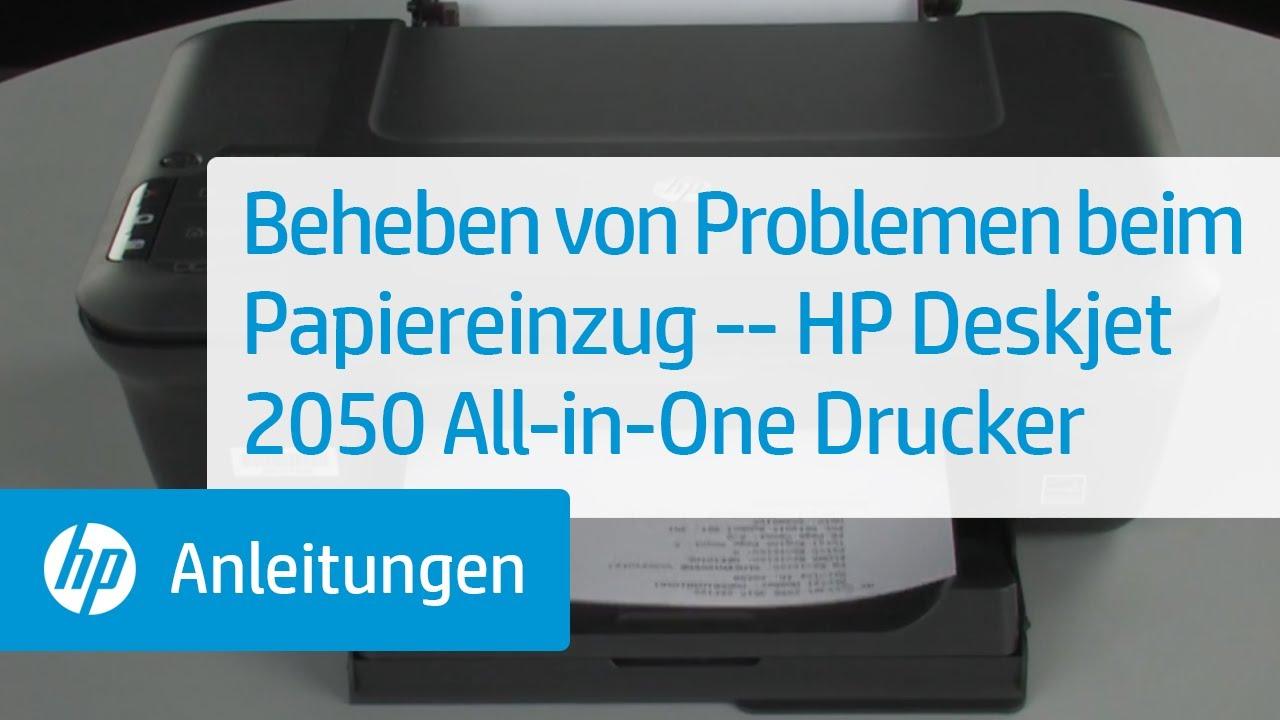 Beheben Von Problemen Beim Papiereinzug Hp Deskjet 2050
