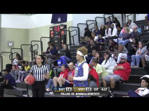 ALL NORCAL GAMES Girls High School East vs West All-Star Game LIVE 4/2/17