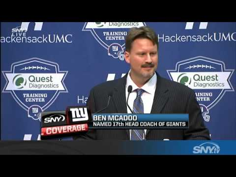 New Giants coach Ben McAdoo meets the media
