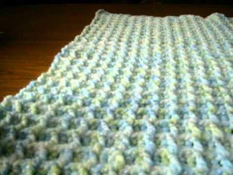 Easy Crochet Stitches Youtube : Waffle Baby Blanket - YouTube