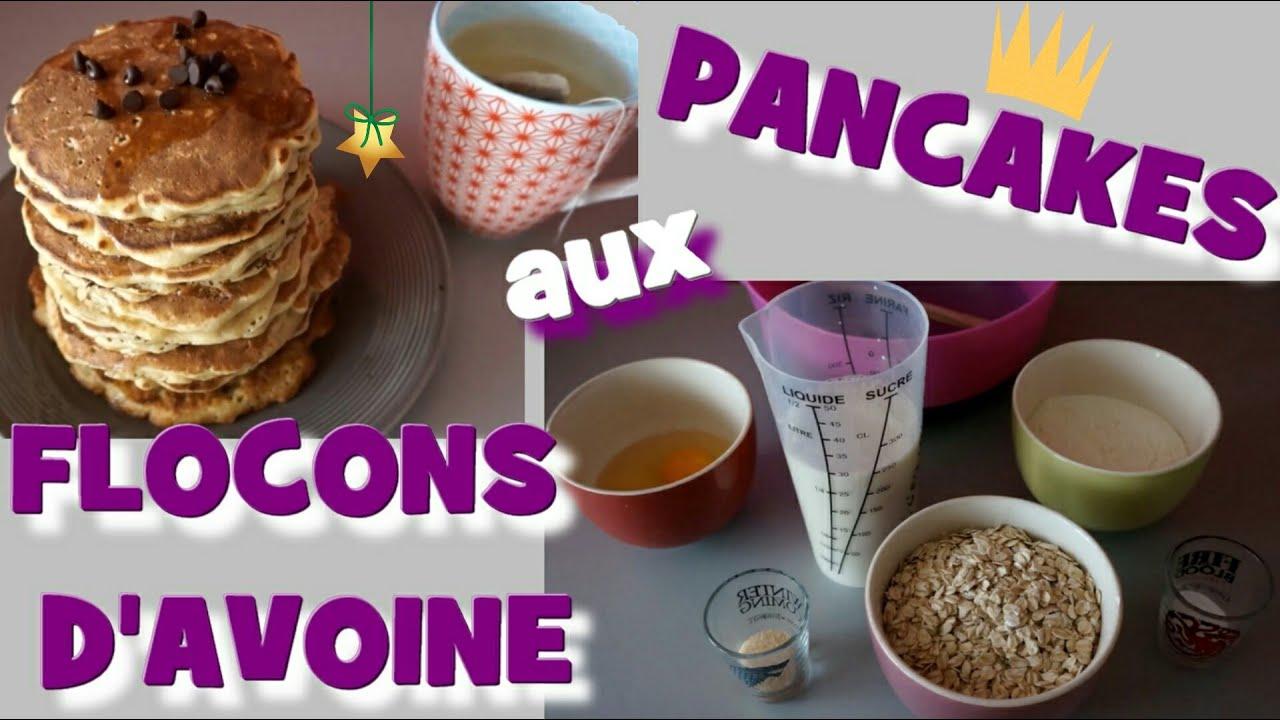 pancakes aux flocons d 39 avoine youtube. Black Bedroom Furniture Sets. Home Design Ideas
