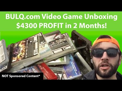 My Bulq.com video game Unboxing Review HUGE PROFITS