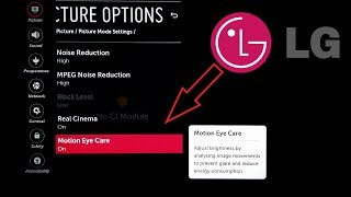 LG SMART TV WebOS Optimize Display for Movies with Real Cinema and Motion Eye Care