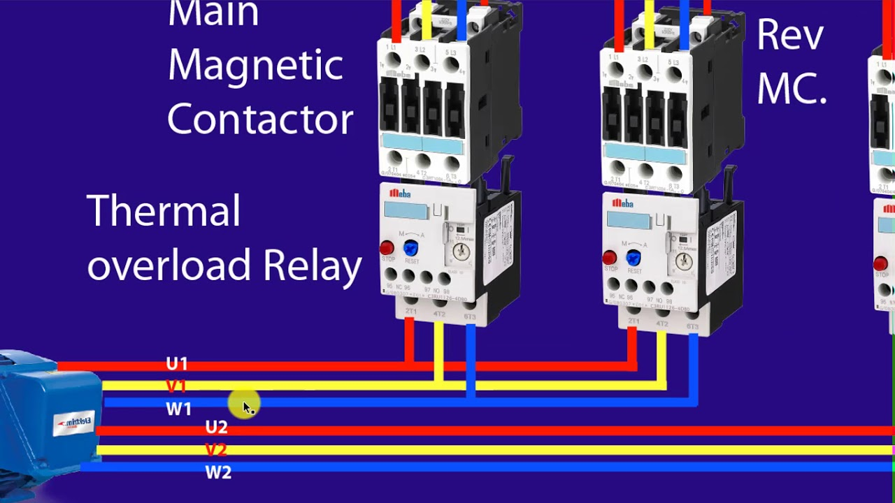 forward reverse control of a three phase motor with star delta connection plc bangla tutorial [ 1280 x 720 Pixel ]