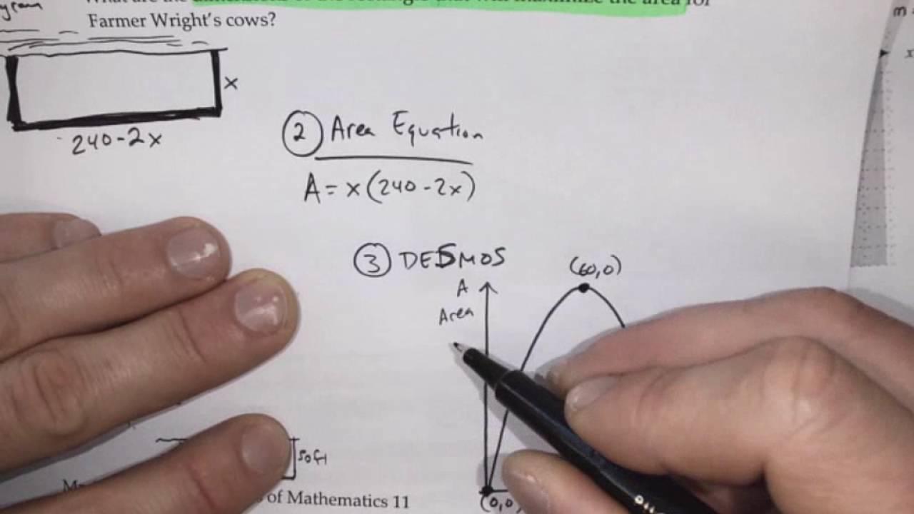 Foundations of Math - Practice Exam Question 15 (Quadratics