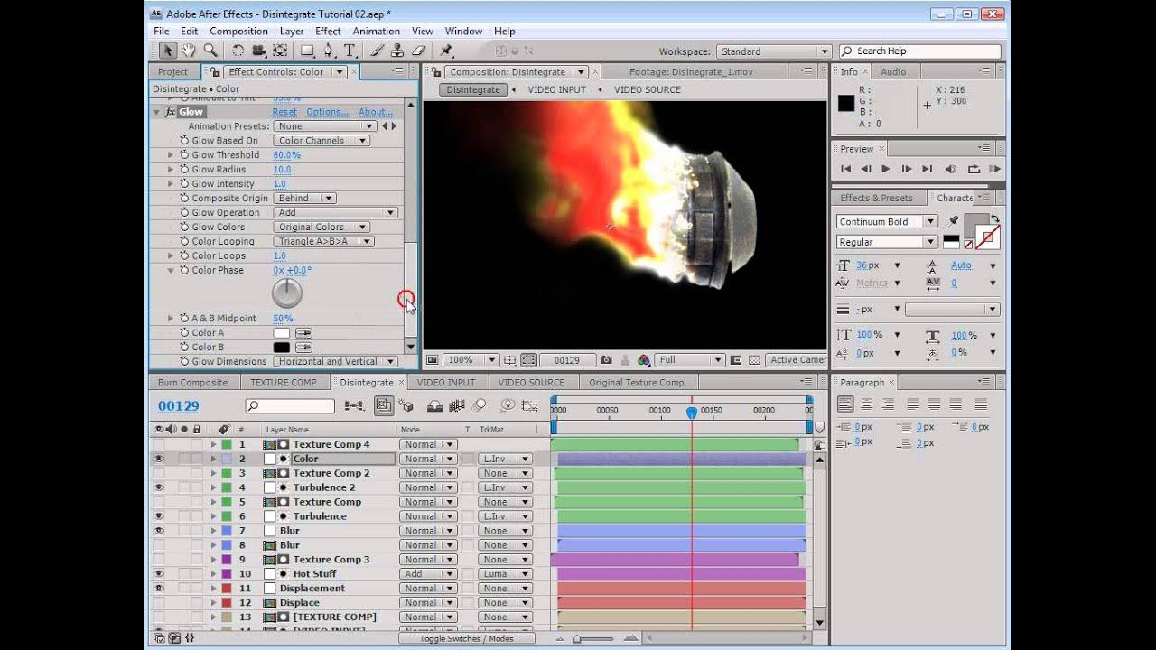 học đồ họa làm phim 3D tạo hiệu ứng làm tan vỡ ( disintegration)