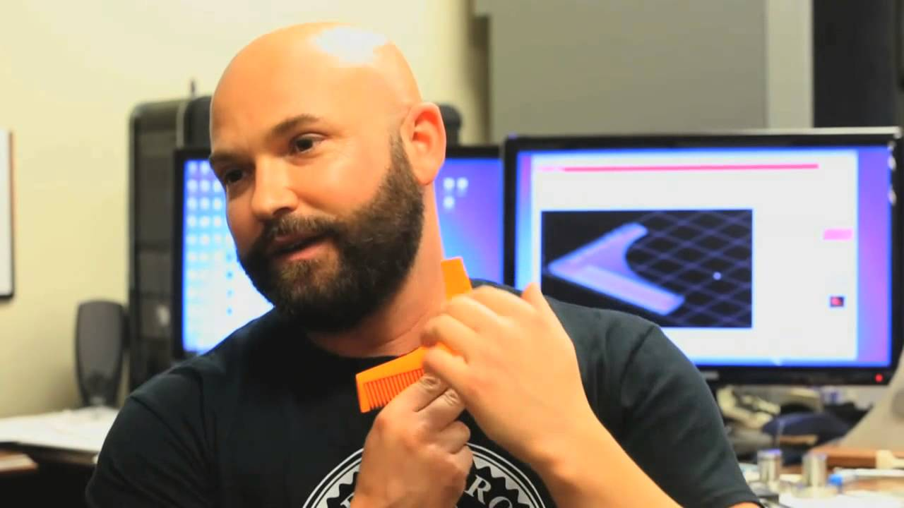 The beard bro invented with 3d printer at ucf youtube for Who invented the 3d printer