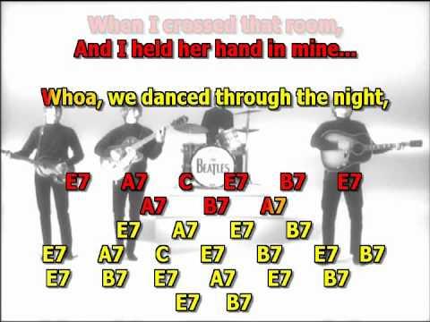 i saw her standing there beatles best karaoke instrumental lyrics chords