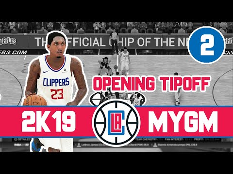 """""""Opening Season Tipoff (vs Nuggets)"""" - NBA 2K19 Los Angeles Clippers MyGM - ep. 2"""