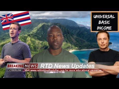 Musk, Zuckerberg & Hawaii Calls For Universal Basic Income (UBI)
