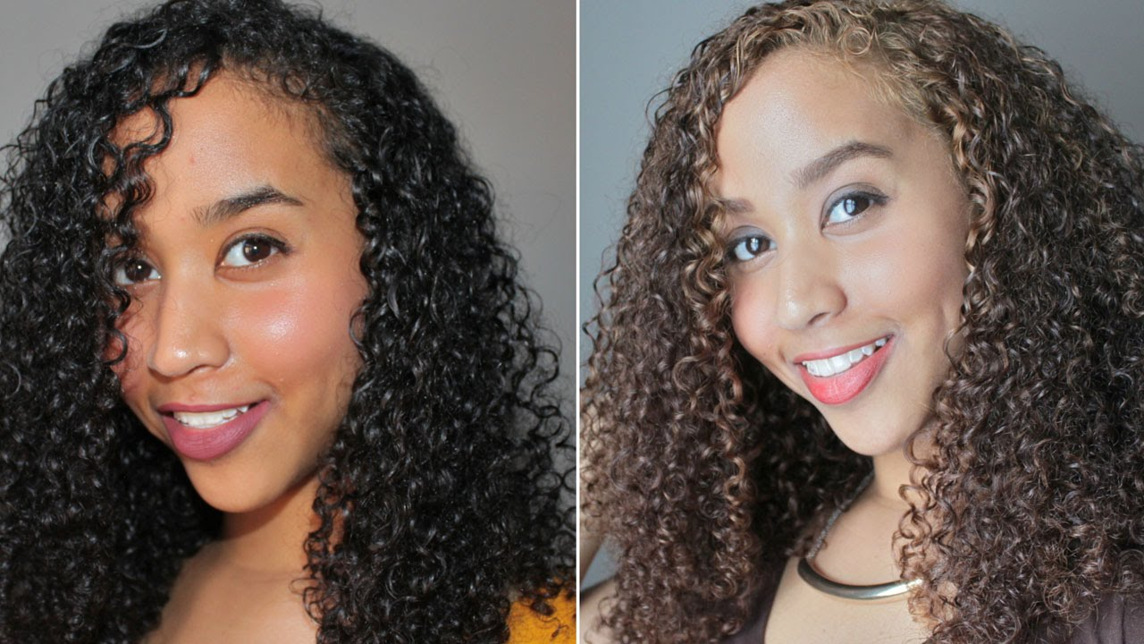 Black To Honey Brown Hair Dying Curls Without Bleach Part 1
