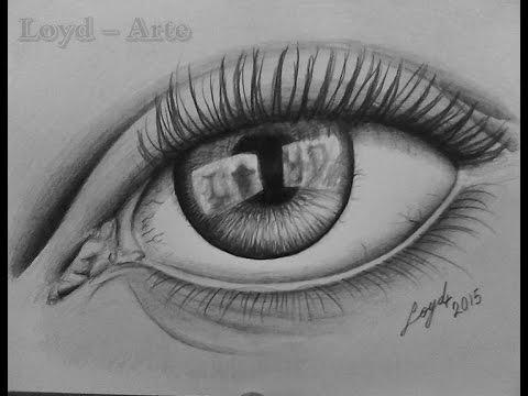 Ojo Realista Dibujo Lapiz Grafito  Realistic eye Draw Time Lapse