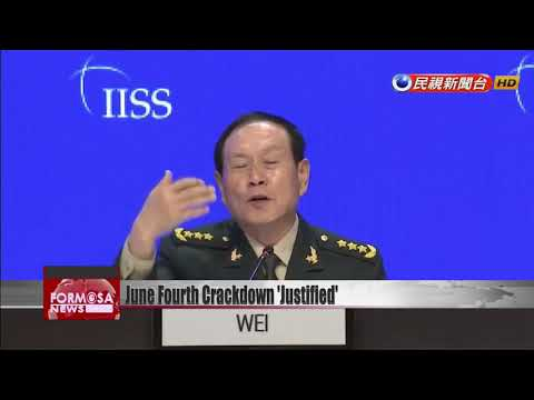 China defense minister says June Fourth crackdown was 'justified'