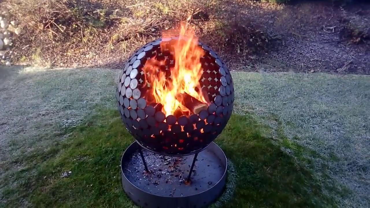 Hervorragend Feuerkugel bzw. Feuerkorb - YouTube JX65