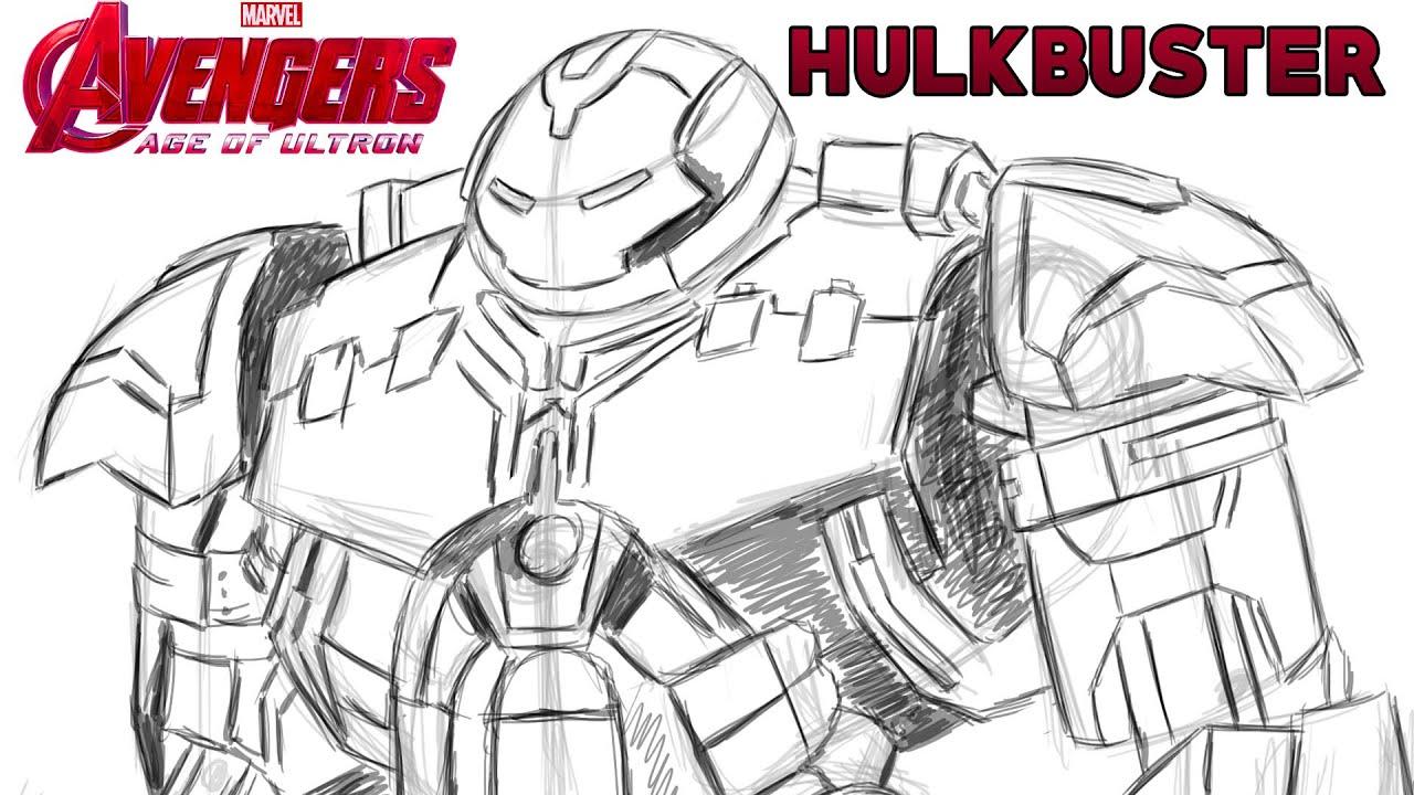 Drawing HULKBUSTER Avengers Age Of Ultron Sketching