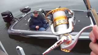 "WaveSpin Legend 250 Reel,  MicroWave Guides and Z-Man ZinkerZ ""Ned Rig"""