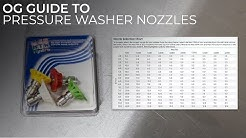Discussing Pressure Washer Nozzles and Choosing a Size