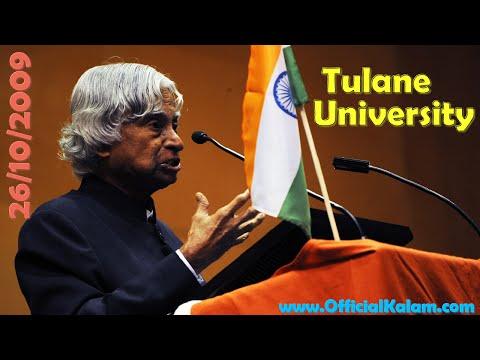 APJ Abdul Kalam Speech at Tulane University, New Orleans