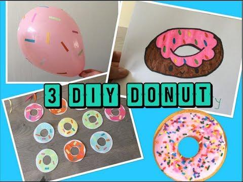 Wonderbaarlijk 🍩 ❤️ DIY: 3 DONUT KNUTSEL ideeën!! (voor kinderen)   Knutselen LN-86