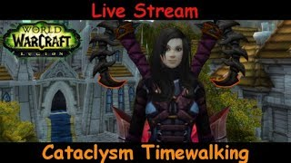 Cataclysm Timewalking - fury warrior - world of warcraft - live stream pve gameplay