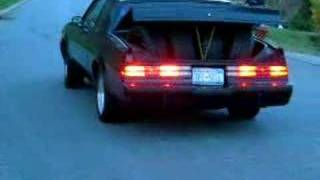 Buick Grand National burnout  rims in trunk