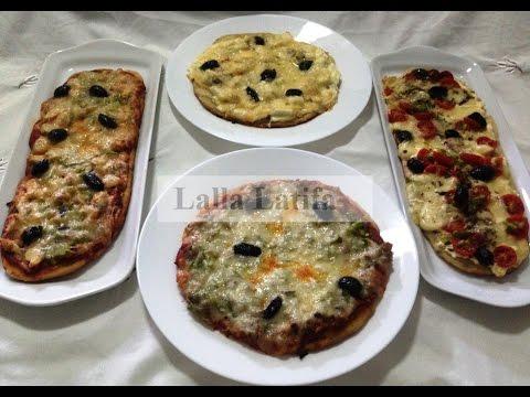 Pizzas à différents goûts
