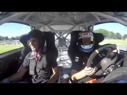 BTCC Driver Mike Epps Takes Team Hard On Track!