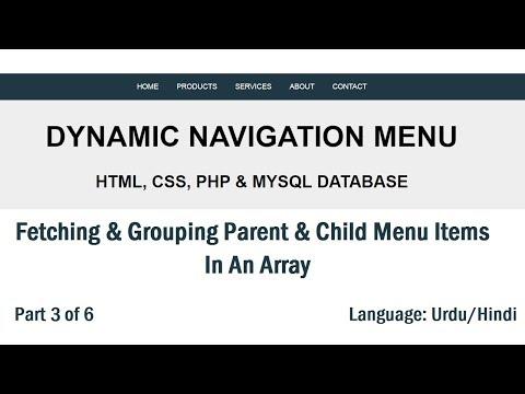 Dynamic Menu In PHP & MySQL: Grouping Menu & Submenu Items