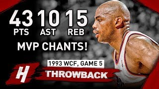 Charles Barkley EPIC Triple-Double Full Game 5 Highlights vs SuperSonics 1993 WCF - MVP CHANTS! HD