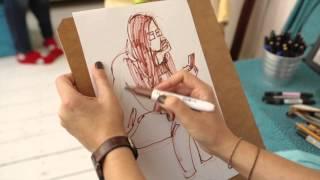 Уроки рисования с Олесей Бершадской. Скетчинг. Видеоуроки по рисунку и графике от Art & Metier