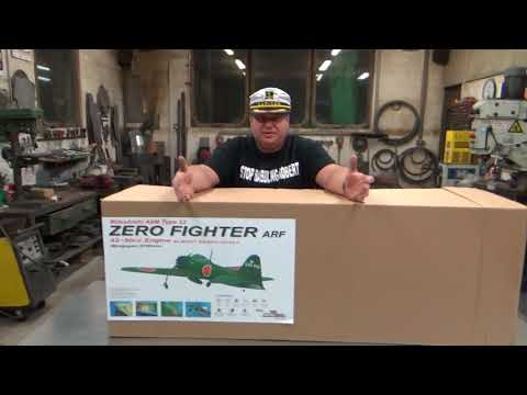 Mitsubishi A6M Zero Fighter Composite 2.1m & 5.5HP 53cc Twin Cylinder Gas Engine Unboxing