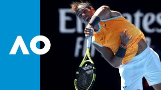 Rafael Nadal v Tomas Berdych second set highlights (4R) | Australian Open 2019