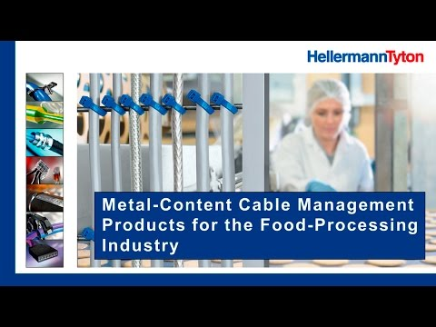 Webinar – Metal-content cable management products in the food-processing industry